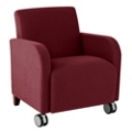 Fabric Guest Chair with Casters, 75579