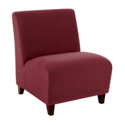 Oversized Armless Guest Chair in Fabric, 75581