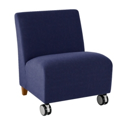 500 lb. Capacity Oversized Armless Guest Chair in Fabric with Casters, 75582
