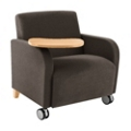 500lb. Capacity Oversized Fabric Guest Chair with Tablet Arm and Casters, 75584