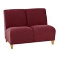 Fabric Armless Two Seat Sofa, 75588