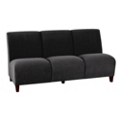 Fabric Armless Three Seat Sofa, 75590