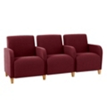 Fabric Three Seat Sofa with Center Arms, 75591