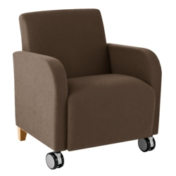 Vinyl Guest Chair with Casters, 75604