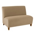 Armless Vinyl Loveseat, 75612