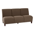 Vinyl Armless Three Seat Sofa, 75617