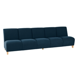 Vinyl Armless Five Seat Sofa, 75623