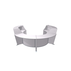 "Marque Four Piece ADA Reception Station - 128""W x 104""D, 75659"