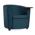 Fabric Round Tablet Arm Chair, 75685
