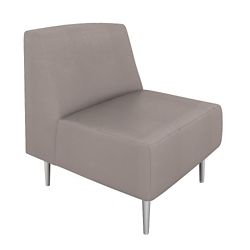 Vinyl Modern Armless Club Chair, 75986
