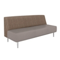 Vinyl Seat Fabric Back Modern Armless Sofa, 75993