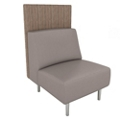 Armless Vinyl Lounge Chair with Fabric Back Panel, 76070