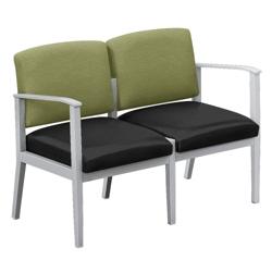 Mason Street Fabric and Polyurethane Two Seater, 76098