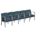 Mason Street Fabric and Vinyl Five Seater with Center Arms, 76133