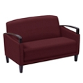 Arc Collection Fabric or Fabric/Polyurethane Sofa with Wood Arms, 76434