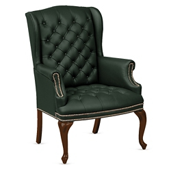 Monroe Leather Wing Back Guest Chair, 76225