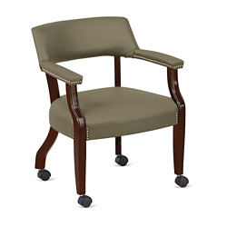 Monroe Fabric Captain's Chair with Casters, 76229