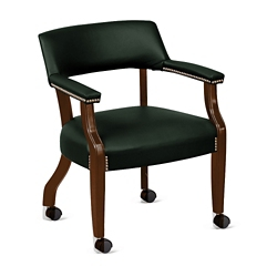 Monroe Leather Captain's Chair with Casters, 76231