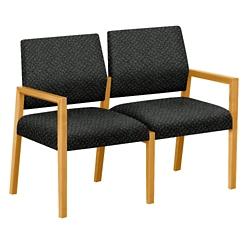 "Fabric Two Seat Sofa - 43.5""W x 23.5""D, 76288"