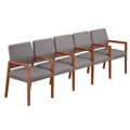"""Fabric Five Seat Sofa with Center Arms - 106.5""""W x 23.5""""D, 76296"""