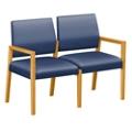 """Polyurethane or Fabric/Polyurethane Two Seat Sofa - 43.5""""W x 23.5""""D, 76305"""