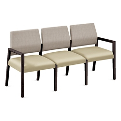 "Polyurethane or Fabric/Polyurethane Three Seat Sofa - 64.5""W x 23.5""D, 76309"