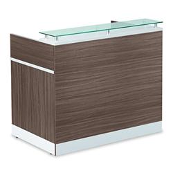 "Esquire Glass Top Reception Desk - 48""W x 30""D, 76318-1"
