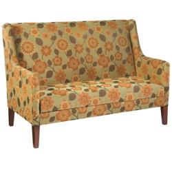 Fabric Sofa with Wood Legs, 76322