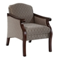 Fabric Upholstered Guest Arm Chair, 76334
