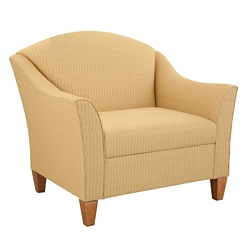 Fabric Upholstered Guest Arm Chair, 76337