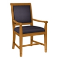 Fabric Dining Chair with Wood Frame, 76365