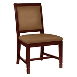 Armless Fabric Dining Chair with Wood Frame, 76354