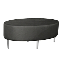 Oval Fully Upholstered Antimicrobial Vinyl Table , 76379