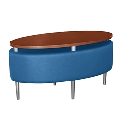 Oval Floating Laminate Table Top with Vinyl Sides, 76384