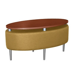 Oval Floating Laminate Table Top with Solid Fabric Sides, 76386