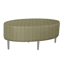 Oval Fully Upholstered Striped Fabric Table , 76393