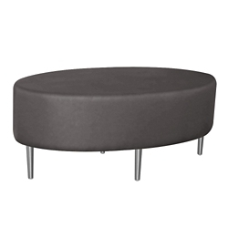 Oval Fully Upholstered Solid Fabric Table , 76394
