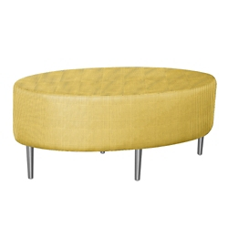 Oval Fully Upholstered Patterned Fabric Table , 76395