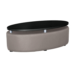 Oval Floating Laminate Table Top with Vinyl Sides, 76396