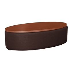 Oval Laminate Table with  Fabric Sides, 76402