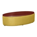 Oval Laminate Table with Patterned Fabric Sides, 76403