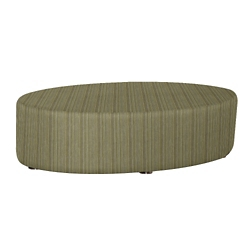 Oval Fully Upholstered Striped Fabric Table , 76405