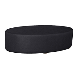 Oval Fully Upholstered Solid Fabric Table , 76406
