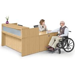 """Reception L Desk - 72""""W, 76430"""