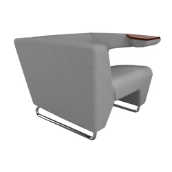 Left Tablet Arm Fabric Lounge Chair, 76457