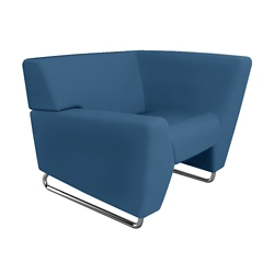 High Left Arm Fabric Lounge Chair, 76460