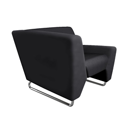 High Right Arm Fabric Lounge Chair, 76461