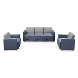 Compass Sofa and Two Armchairs, 76567