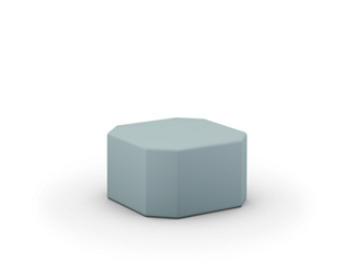 "Touchdown Octagonal Shaped Ottoman - 32""W x 32""D, 76606"