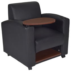 chairs with desk arm folding writing tablet seating for office